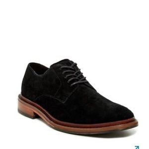 COLE HAAN Classic Black Suede Williams Derby Shoes
